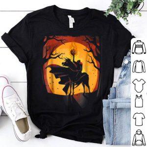 Top Headless Knight Flaming Pumpkin Halloween shirt