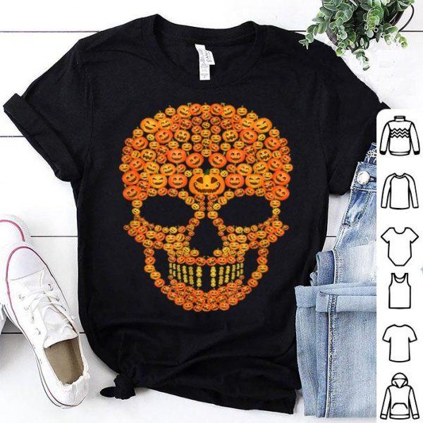 Top Pumpkin Skull Funny Costumes Scary Halloween Skeleton shirt