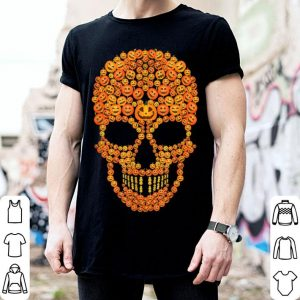 Top Pumpkin Skull Funny Costumes Scary Halloween Skeleton shirt