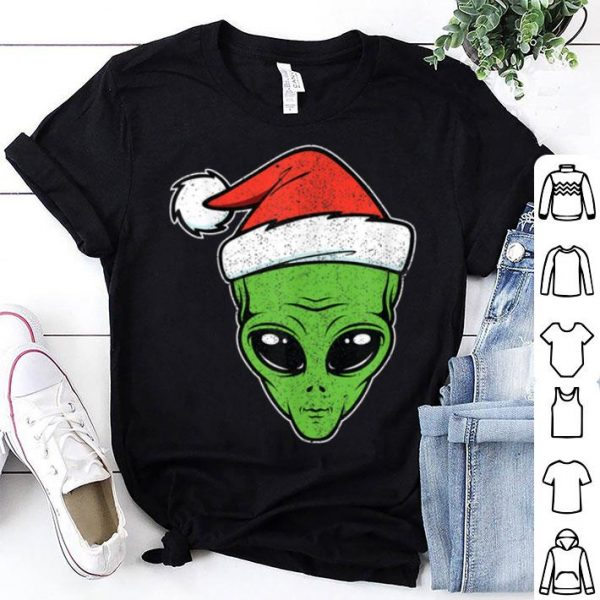 Awesome Alien Santa Hat Halloween & Christmas Gift for Space Lover sweater
