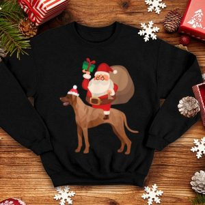 Awesome Santa Riding Vizsla Christmas Pajama Gift sweater