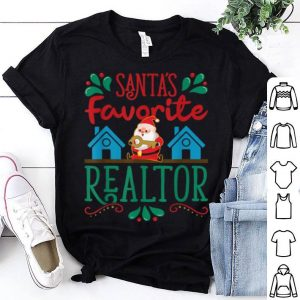 Awesome Santa's Favorite Realtor - Christmas Xmas Real Estate Agent shirt