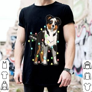 Beautiful Christmas Lights Australian Shepherd Dog Lover Xmas Gift shirt