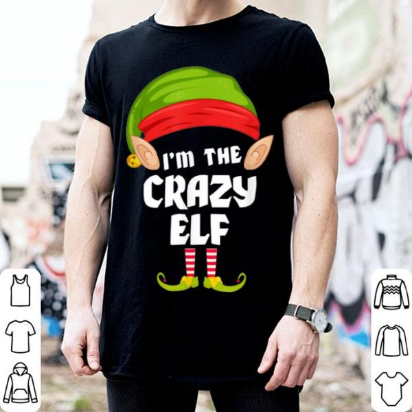 Beautiful Crazy Elf Matching Family Group PJ Christmas shirt