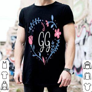 Beautiful Flower Flora GG Grandma Christmas Birthday Gift Tee shirt