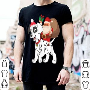 Beautiful Santa Riding Dalmatian Christmas Pajama Gift shirt