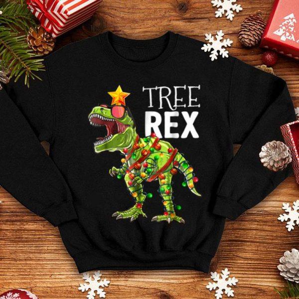 Beautiful Tree Rex Christmas T Rex Dinosaur Christmas Gift Boys shirt