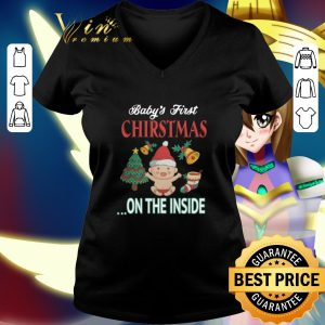 Cheap Baby's first Christmas on the inside shirt