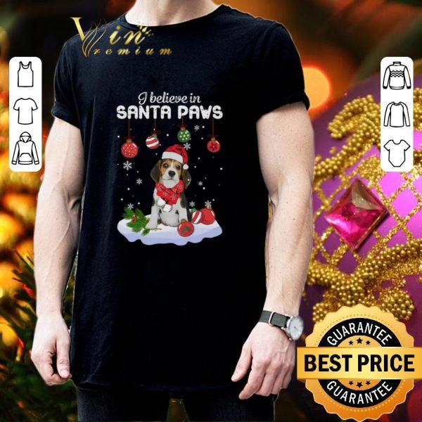 Funny Beagle i believe in Santa paws Christmas shirt