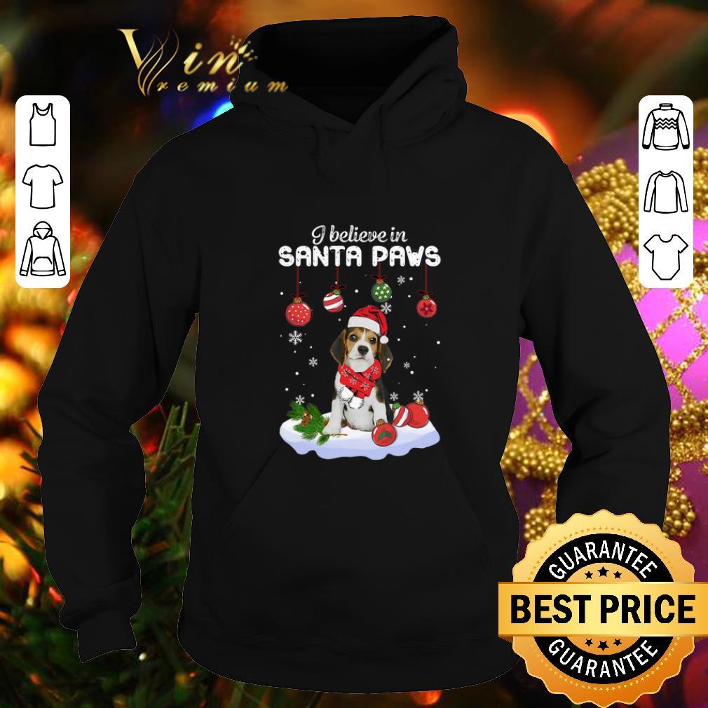 Funny Beagle i believe in Santa paws Christmas shirt 4 - Funny Beagle i believe in Santa paws Christmas shirt