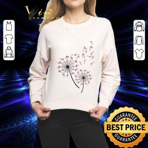 Funny Flamingo dandelion flower shirt