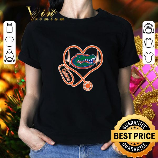 Funny Love Florida Gators Heartbeat Nurse shirt