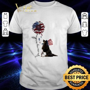 Funny Sheltie you are my sunshine American flag shirt
