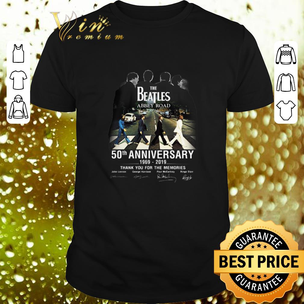 Abbey Road 50th Anniversary The Beatles T-Shirt Signatures 1969-2019