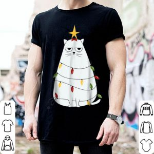 Hot Cat Funny Grumpy Christmas Tree Cat For Men Women sweater