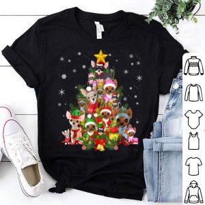 Hot Chihuahua Christmas Tree Xmas Gift For Chihuahua Dog shirt