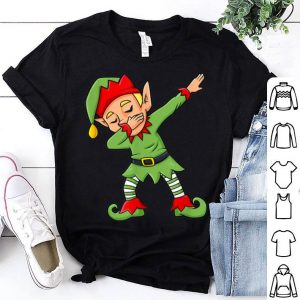 Hot Dabbing Elf Funny Christmas Boys Girls Kids Dab Xmas shirt