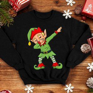 Hot Dabbing Elf Funny Christmas Boys Girls Kids Dab Xmas shirt