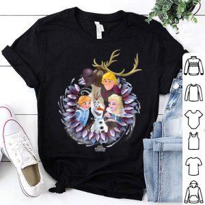Hot Disney Frozen Christmas Wreath Group Shot Graphic shirt