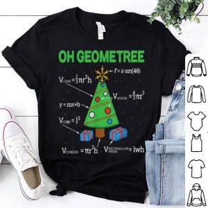 Hot Funny Math Geometry Christmas Tree Geometree Teacher Gift shirt