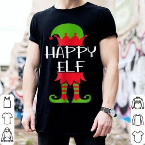 Hot Happy Elf Matching Family Group Christmas Funny Tee sweater