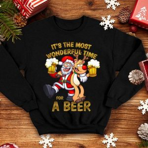 Hot It's The Most Wonderful Time For A Beer Funny Christmas sweater