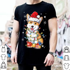 Hot Merry Corgmas Xmas Tree Santa Boys Corgi Christmas shirt