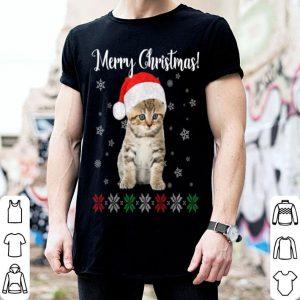 Nice Cat Christmas Ugly Christmas Sweater Style Gift Tee shirt