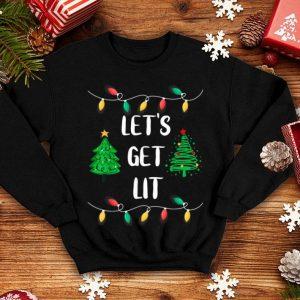 Nice Let's Get Lit Christmas Lights Gift Tee Xmas Holidays shirt