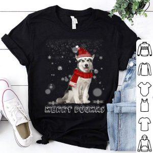 Nice Merry Dogmas Alaskan Malamute dog Snow Christmas Eve Xmas shirt