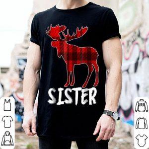 Nice Sister Moose Plaid Christmas Pajama Family Matching shirt