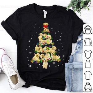 Official Cute Poochon dog Christmas Tree gift decor Xmas tree shirt