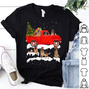 Official German Shepherd Dog Riding Red Truck Xmas Merry Christmas sweater