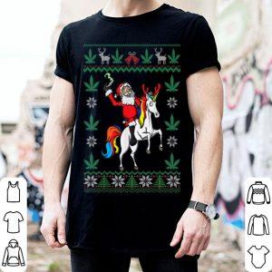Official Weed Lover Santa & Unicorn Cannabis Marijuana Ugly Christmas shirt