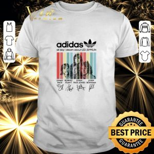 Official adidas all day i dream about Led Zeppelin signatures vintage shirt