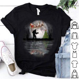 Original Funny Bigfoot Christmas Santa Sleigh Reindeer GiftsT-Shirt shirt
