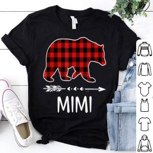 Original Red Plaid Mimi Bear Matching Pajama Family Xmas Gifts shirt