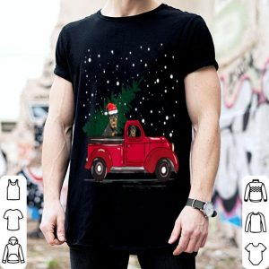 Original Red Truck pick up Rottweiler Dog Christmas lover gift shirt