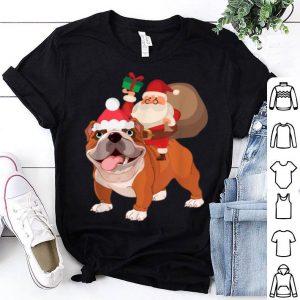 Original Santa Riding French Bulldog Christmas Pajama Gift shirt