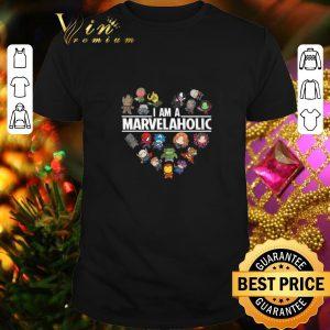 Premium Avengers Endgame I am a Marvelaholic Marvel Aholic shirt