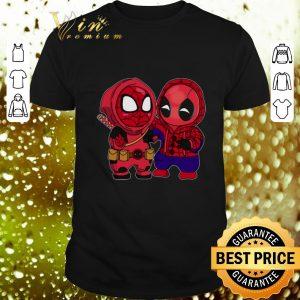 Premium Baby Chibi Spider Man and Deadpool shirt