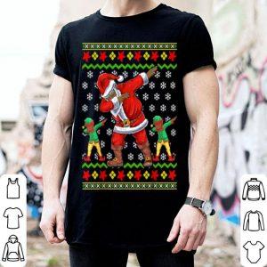Premium Christmas African American Dabbing Santa Elf Gift shirt