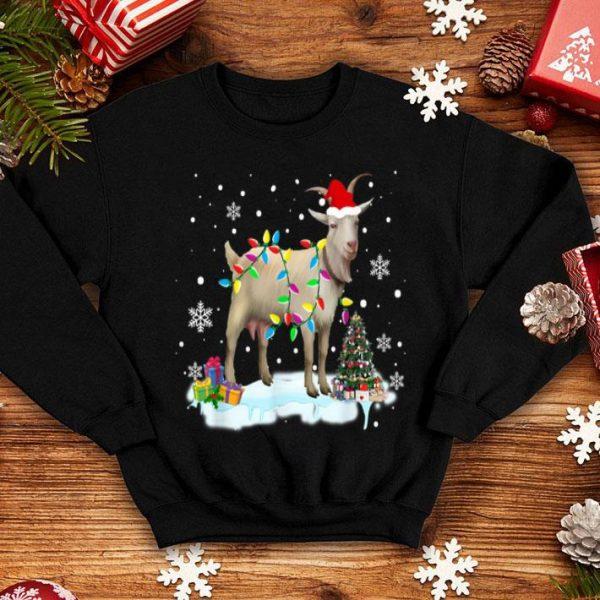 Premium Christmas Lights Goat Funny Goat Lover Christmas Gifts shirt