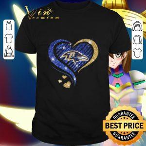 Premium Glitter Love Baltimore Ravens shirt