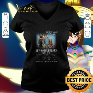 Premium Little house on the Prairie 45th anniversary 1974-2019 signature shirt 1