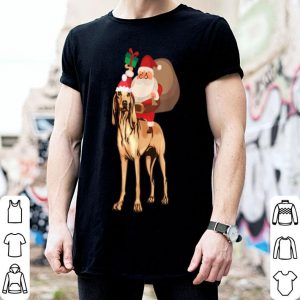 Premium Santa Riding Bloodhound Christmas Pajama Gift shirt