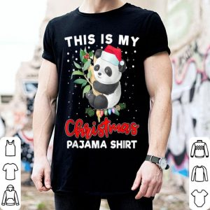 Premium This Is My Christmas Pajama Cute Panda Santa Hat shirt