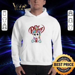 Premium Unicorn drinking Dr Pepper shirt 2