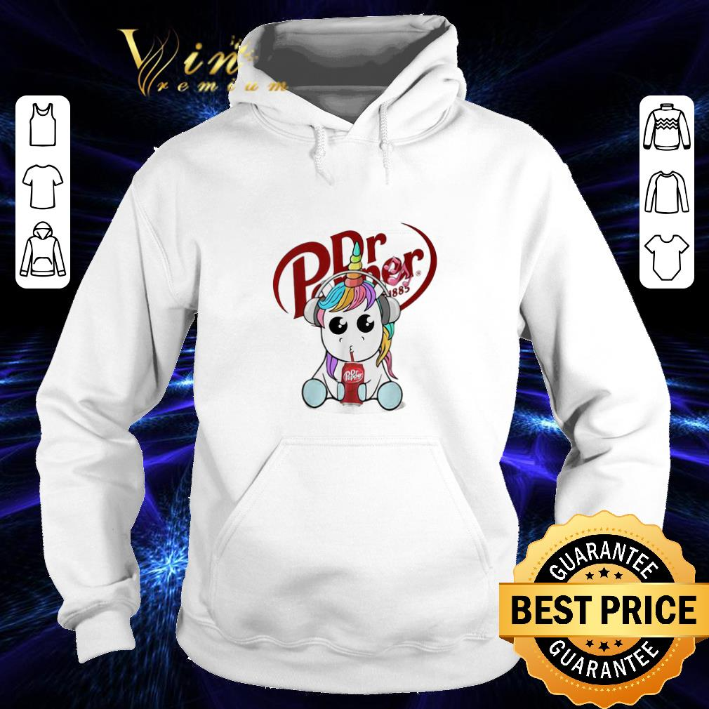Premium Unicorn drinking Dr Pepper shirt 4 - Premium Unicorn drinking Dr Pepper shirt