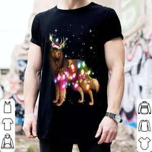 Pretty Christmas Lights Belgian Tervuren Dog shirt